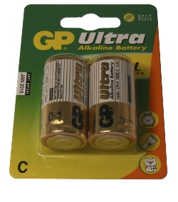 GP ULTRA 2-PACK C-BATTERIER
