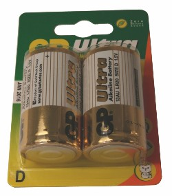 GP ULTRA 2-PACK D-BATTERIER